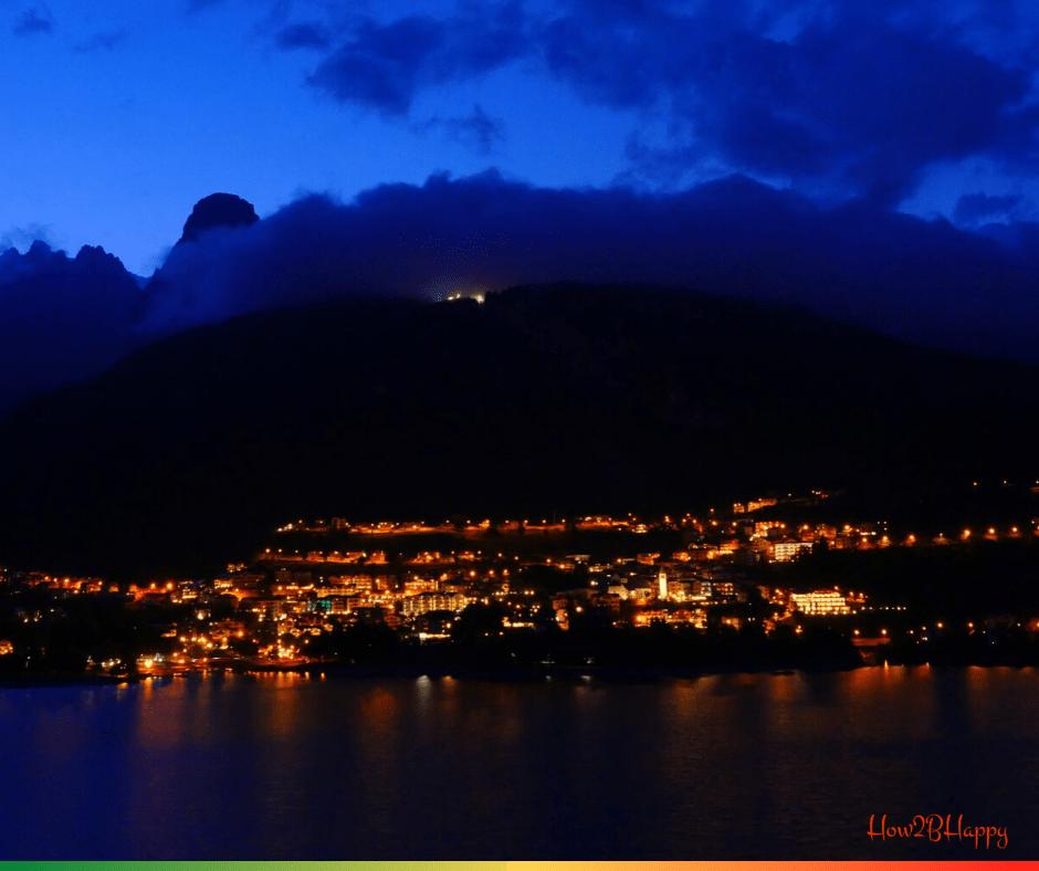 lake town at night, may be empty due to Coronavirus