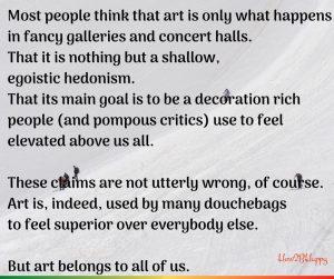 To whom art belongs?