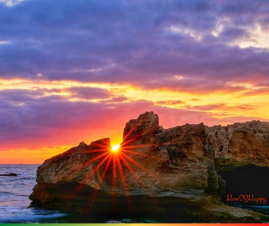 sun through rock symbolizing wrong keep of money